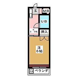 アネックス安井[4階]の間取り