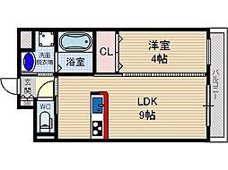 MIWA TERRACE別院[3階]の間取り