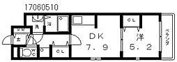 メゾンヴェルデュール[1階]の間取り