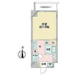 名古屋市営桜通線 国際センター駅 徒歩8分の賃貸マンション 7階1Kの間取り