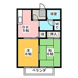 サンライフ東新田 A棟[2階]の間取り