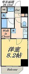 JR山手線 御徒町駅 徒歩6分の賃貸マンション 5階1Kの間取り