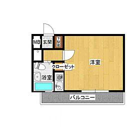 ダイナコート大博通り[4階]の間取り