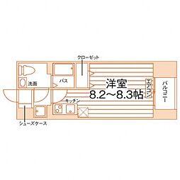 ソエルオーワン(SOEL  01) 11階ワンルームの間取り