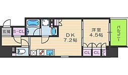 ザ・パークハビオ堂島[4階]の間取り