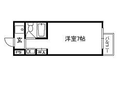 京都府京都市上京区飛鳥井町の賃貸マンションの間取り