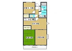 神奈川県大和市渋谷6丁目の賃貸マンションの間取り