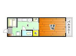 セルティアC棟[2階]の間取り