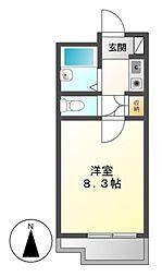 ユング桜山[3階]の間取り