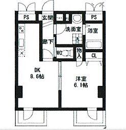 翠峯五番館[3階]の間取り