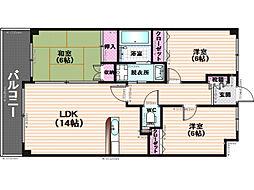 メゾンドール諸岡[5階]の間取り
