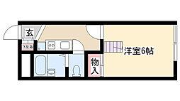 愛知県名古屋市昭和区駒方町1丁目の賃貸アパートの間取り