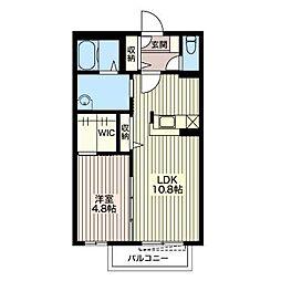 メビュースタウンVI B[2階]の間取り