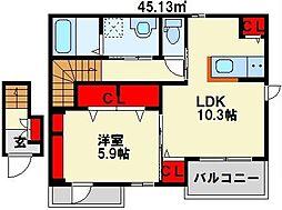 やまぶきガーデンハウス[2階]の間取り