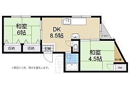 サンハイツ笹井[505号室]の間取り