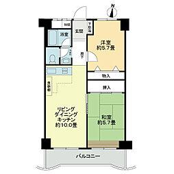 ニチモグリーンタウン茨木5番館[2階]の間取り