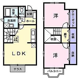 サンシャイン三田 A[1階]の間取り