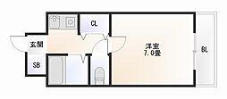 大阪府大阪市浪速区下寺3丁目の賃貸マンションの間取り