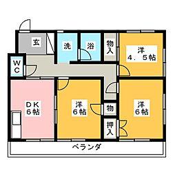 アーバン生田[3階]の間取り