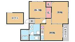 兵庫県神戸市垂水区星が丘2丁目の賃貸マンションの間取り