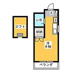 グリーンゲーブル[3階]の間取り