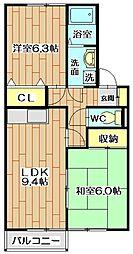 シンフォニックガーデンC棟[2階]の間取り