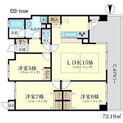 ディーグラフォート千里中央[14階]の間取り
