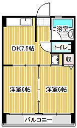 愛知県名古屋市中川区八家町2丁目の賃貸マンションの間取り