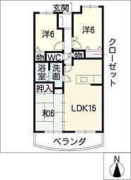 ラルゴ白壁[11階]の間取り