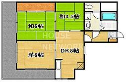 ライオンズマンション四条大宮[310号室号室]の間取り