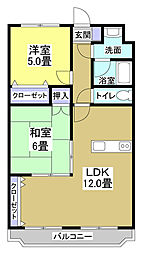 マンションM[102号室]の間取り