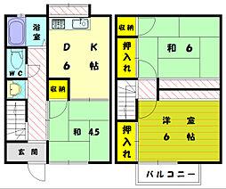 [テラスハウス] 福岡県福岡市東区和白1丁目 の賃貸【福岡県 / 福岡市東区】の間取り