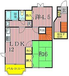 クレストM参番館[2階]の間取り