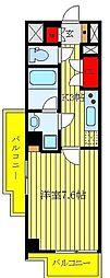 CREVISTA板橋西台II 2階1Kの間取り