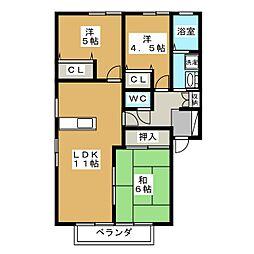MGパレス A棟[1階]の間取り