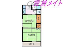 雄萠荘[2階]の間取り
