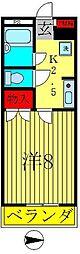 フェリス蔵元[4階]の間取り