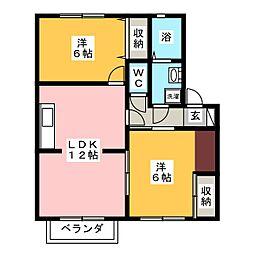 ファーム・ヴィレッジ D棟[2階]の間取り