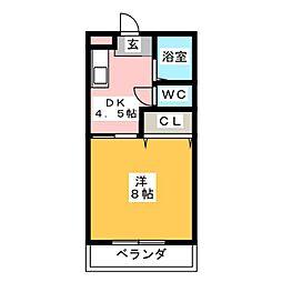AIコーポ[2階]の間取り