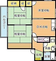 フレグランスヴィラ B棟[2階]の間取り