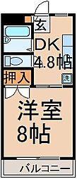 東京都西多摩郡瑞穂町南平2丁目の賃貸マンションの間取り