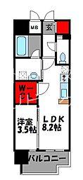 JR鹿児島本線 千早駅 徒歩4分の賃貸マンション 4階1LDKの間取り