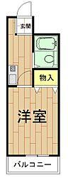 神奈川県川崎市中原区上丸子八幡町の賃貸マンションの間取り