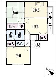 セジュール石田[2階]の間取り