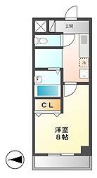 愛知県名古屋市中村区黄金通5丁目の賃貸マンションの間取り