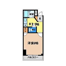 シティガーデン富田[203号室]の間取り