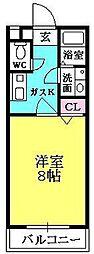 メイプル津門[2階]の間取り