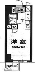 東京都荒川区西尾久4丁目の賃貸マンションの間取り