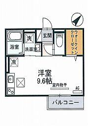 JR山陽本線 東加古川駅 徒歩6分の賃貸アパート 2階ワンルームの間取り