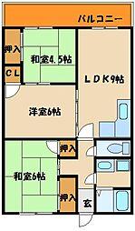 協栄王塚台マンション[1階]の間取り